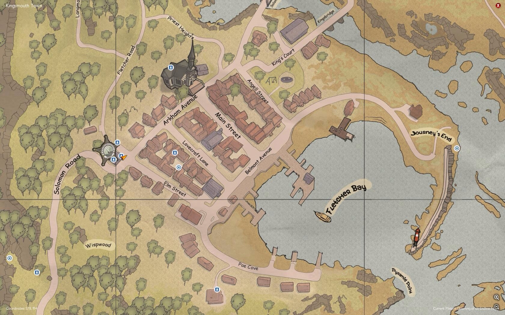 Main map of Kingsmouth